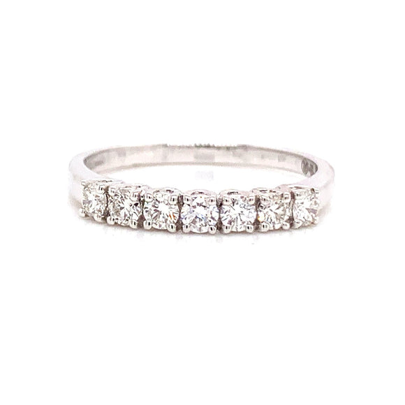 18ct White Gold Eternity Style Diamond Band