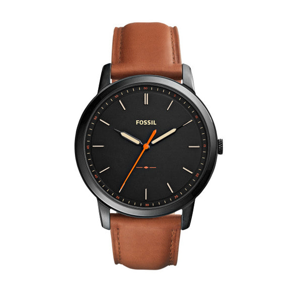 Fossil The Minimalist Slim Three-Hand Light Brown Leather Watch