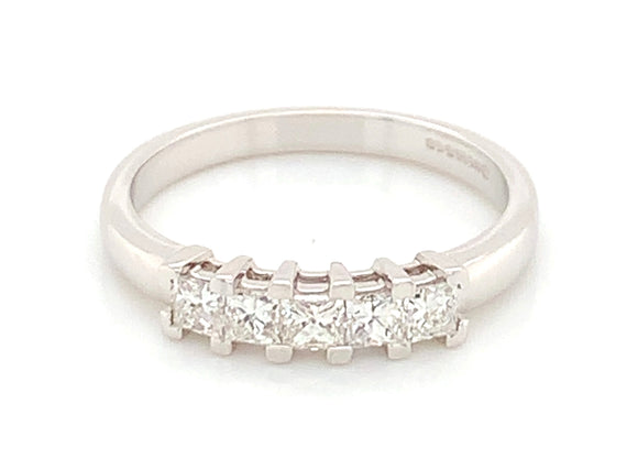 18ct White Gold Five Stone Diamond Band