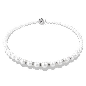 Newbridge Pearl With Crystal Necklace