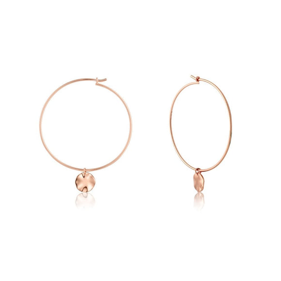Ania Haie Texture Mix Hoop Earrings Rose Gold