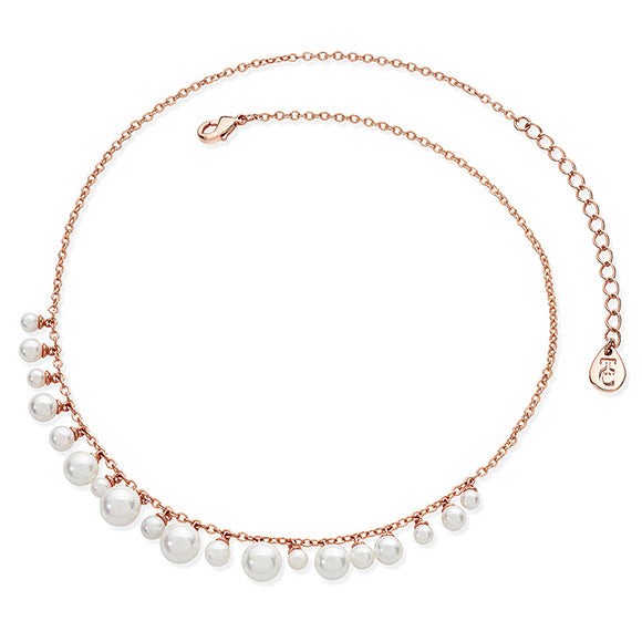 Tipperary Crystal Rose Gold Pearl Necklace