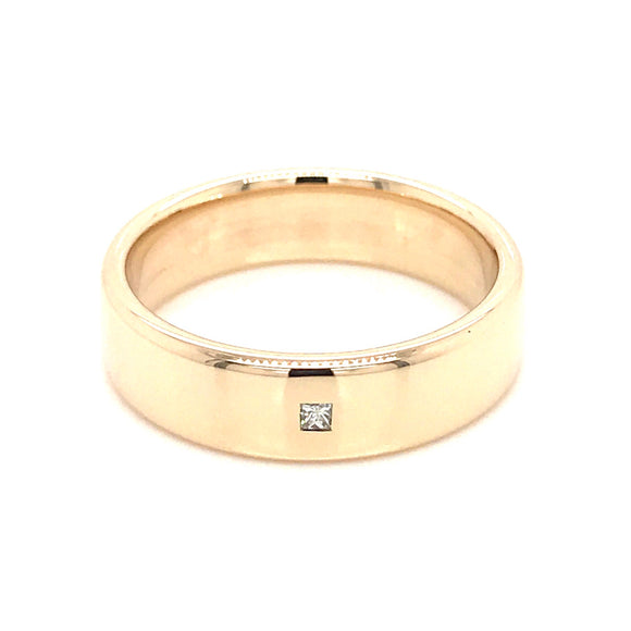 9ct Gold Gents Engagement/ Wedding Ring
