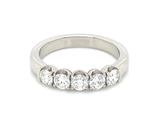 Platinum 0.75ct Five Stone Diamond Ring