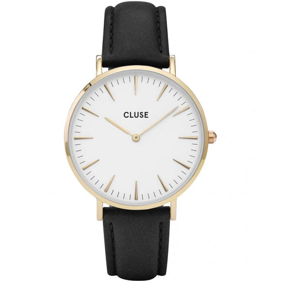 Cluse La Bohème Black Leather CL18406