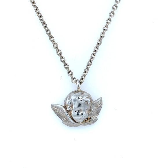Alexia Dove Cherub Sterling Silver Necklace