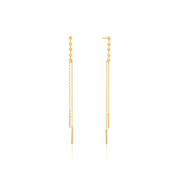 Ania Haie Spike It Up Gold Spike Double Drop Earrings