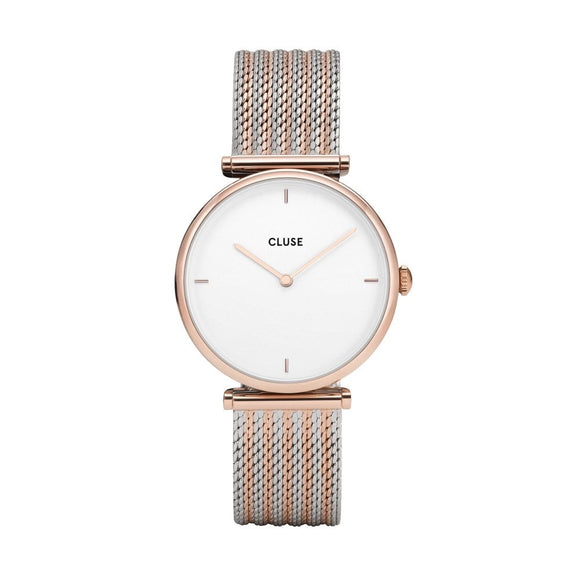 Cluse Triomphe Rose Gold Bicolour Mesh CW0101208001