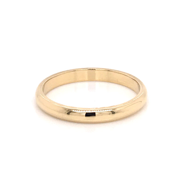 18ct Yellow Gold 2.5mm Band
