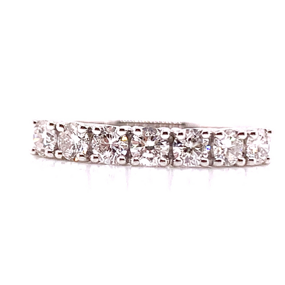18ct White Gold 7stone Diamond Eternity Band