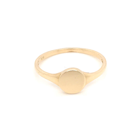 9ct Gold round signet ring ST45985