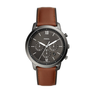 Fossil Neutra Brown Leather Strap Gents Watch