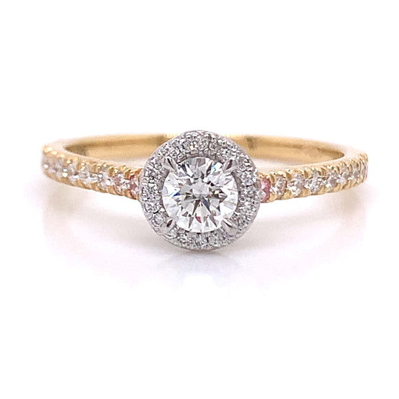 .50ct Two Tone 18ct Gold Halo