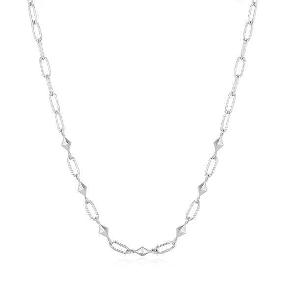 Ania Haie Spike It Up Silver Heavy Spike Necklace