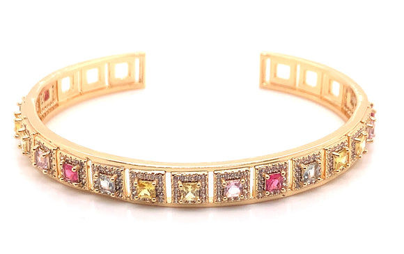 Tipperary Crystal Gold Multicoloured Stone Bracelet