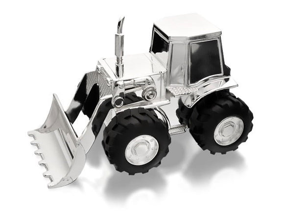 Silver Plated Tractor Money Box