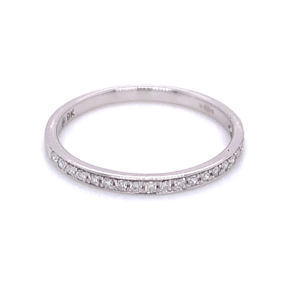 .10ct Pave Set Diamond Band White Gold