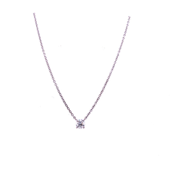 18ct White Gold 0.46ct Floating Diamond Pendant