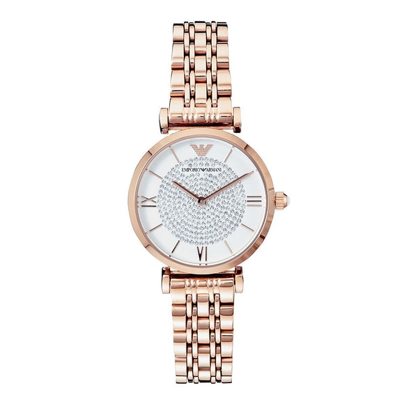 Armani Gianni T-Bar Rose Gold Plated Ladies Watch