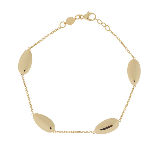9ct Yellow Gold 4 Oval Bracelet