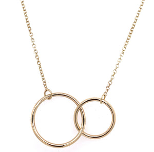 Tadgh Óg 9ct Gold Double Circle Pendant