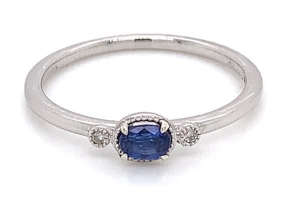 9ct White Gold Kyanite and Diamond