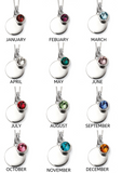 Birthstone And Engravable Disc Necklace