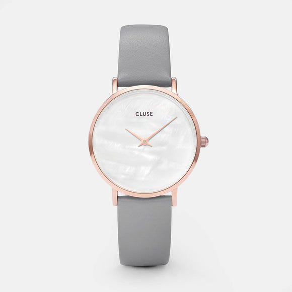 Cluse Minuit La Perle Rose Gold White Pearl/Stone Grey CL30049