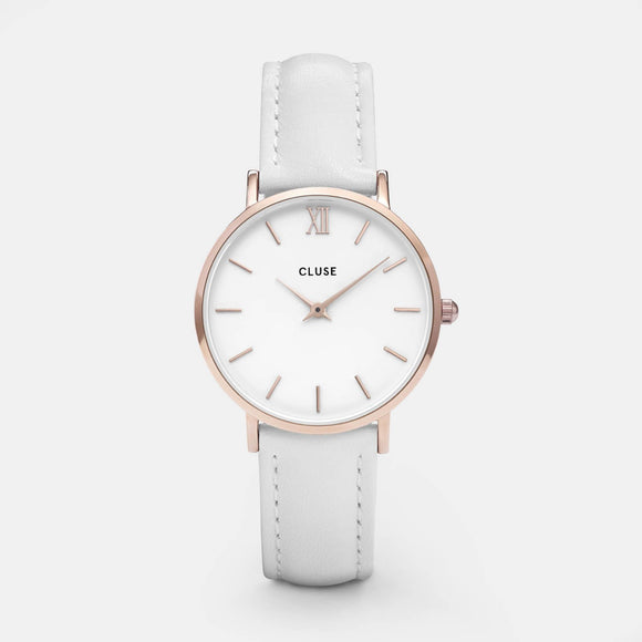 Cluse Minuit Rose Gold White/White CL30056