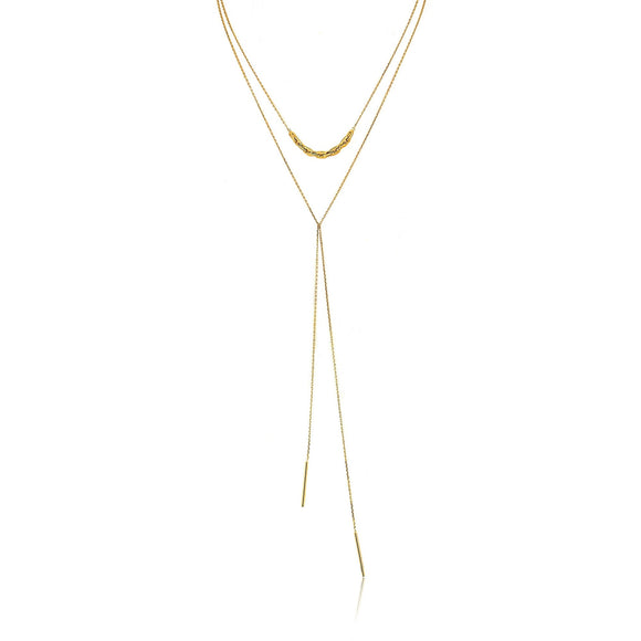 Ania Haie Links Lariat Necklace Gold N004-002G