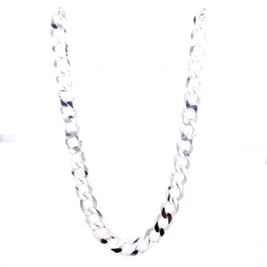 "Sterling Silver 20"" Curb Men's Chain"