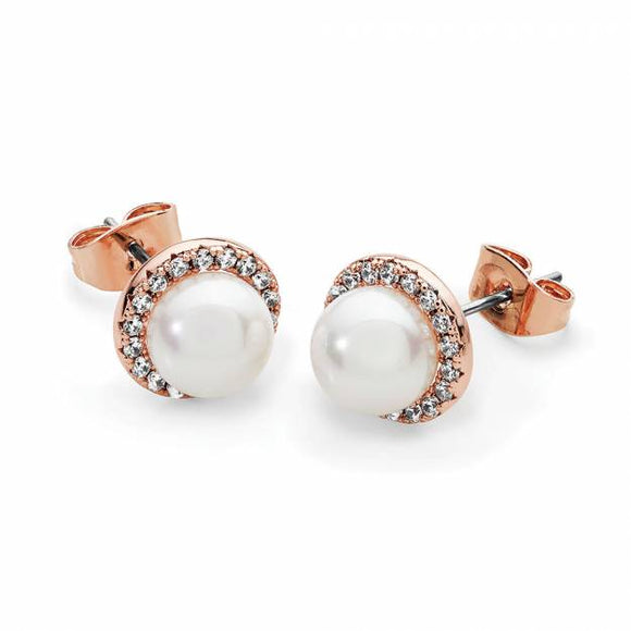 Tipperary Crystal Rose Gold Cz with Pearl 118096