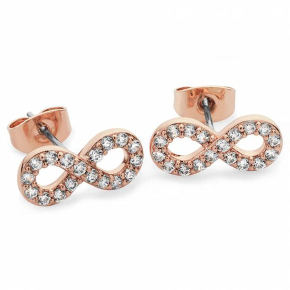 Tipperary Crystal Stone Set Infinity Stud Earring 109278
