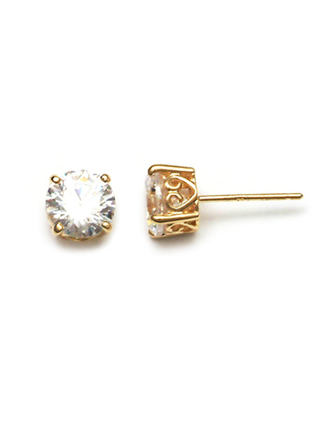 9ct Yellow Gold Cz Studs PT44643