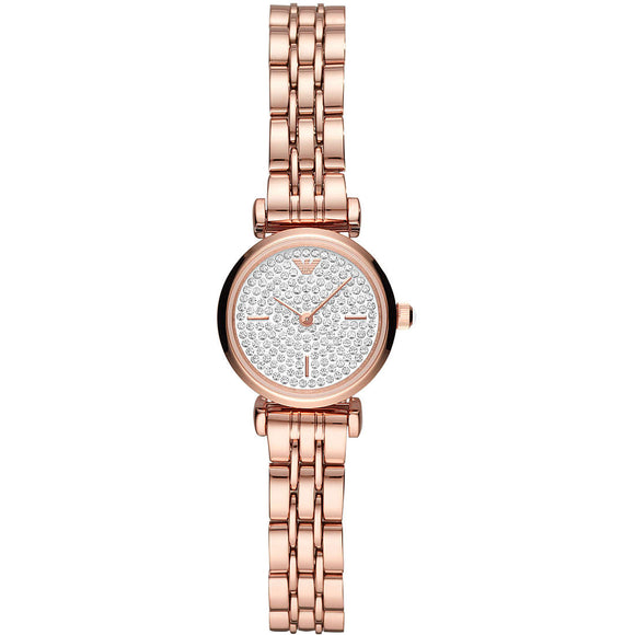 Emporio Armani Gianni T-bar mini Ladies Rose Watch AR11266