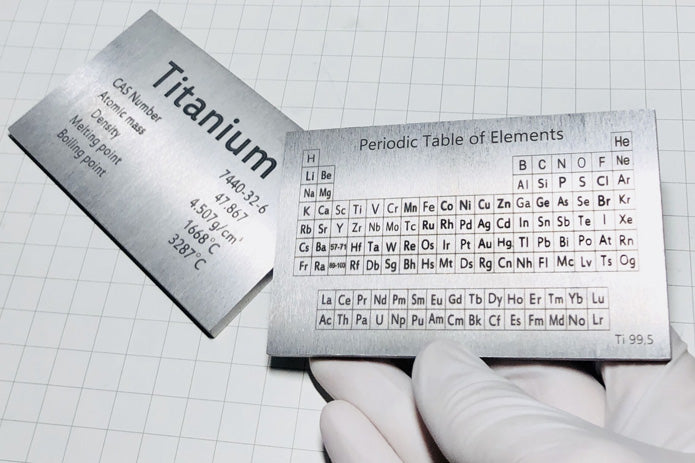 Polar Metals Solid Titanium Periodic Table of Elements
