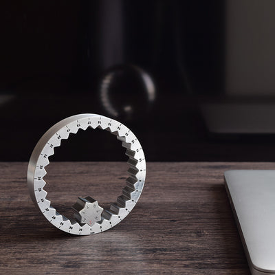 "<b><font color=""black"">TITANIUM & ALUMINUM RING CALENDAR </font></b> <br>Athlone Designs - Kranite"