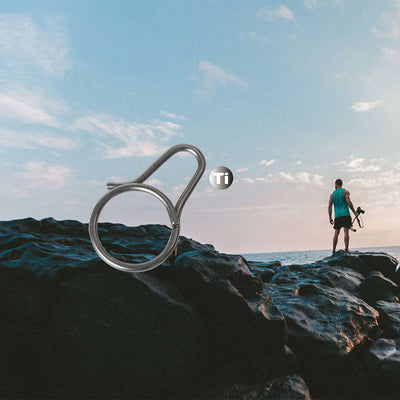 SIMPLE CLIP: SOLID TITANIUM CARABINER