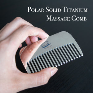 "<b><font color=""black"">SOLID TITANIUM WALLET MASSAGE COMB </font></b> <br>Polar Metals - Kranite"