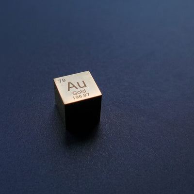 GOLD 10mm SOLID METAL CUBE PROTOTYPES