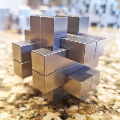 Trance Metals Mortise and Tenon Joint Puzzle Titanium