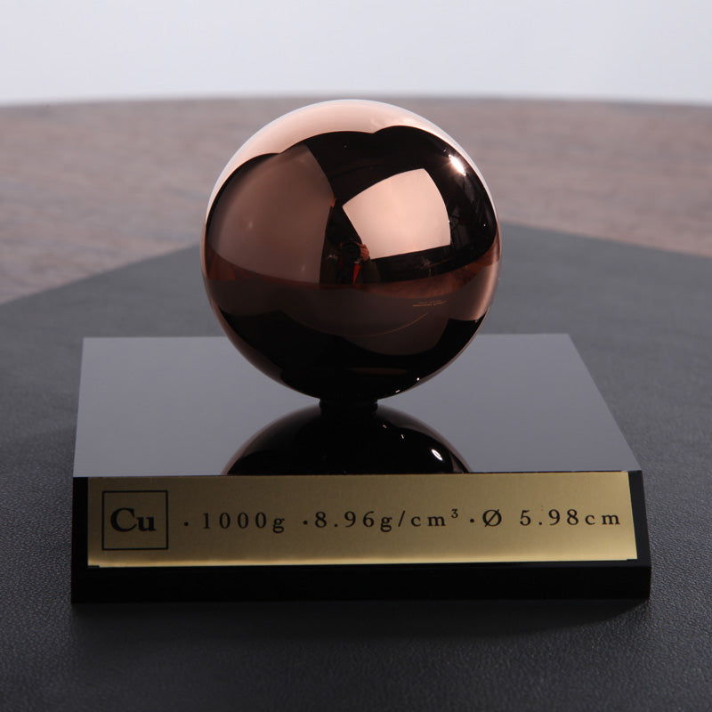 One Kilogram Solid Copper Sphere Polished
