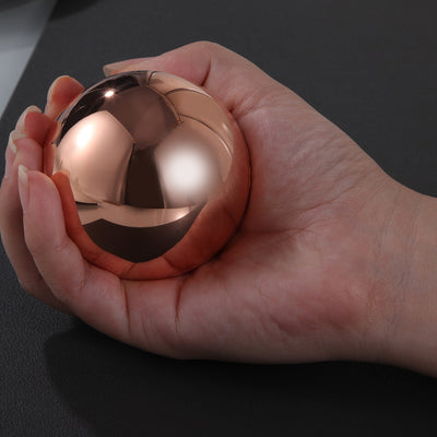 TRANCE METALS SOLID COPPER SPHERE POLISHED FINISH