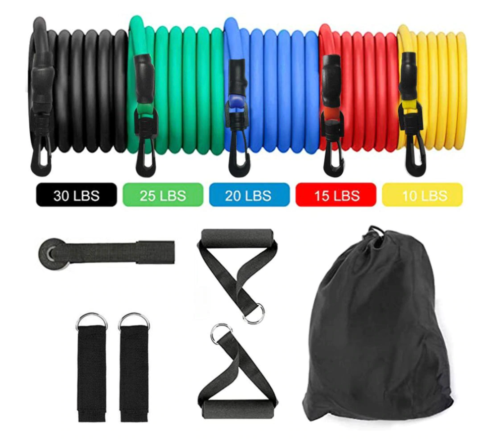 Home Gym Resistance Band Set + Free Shipping