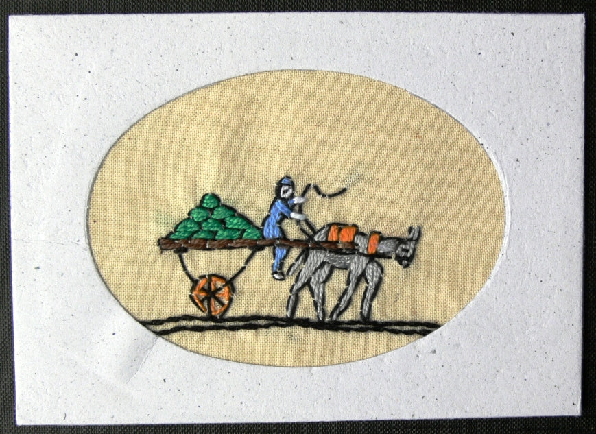 Card embroidered, Village collection-Watermelons