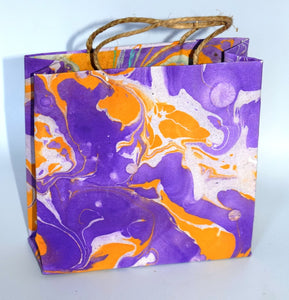 Gift bag, Marbled, square