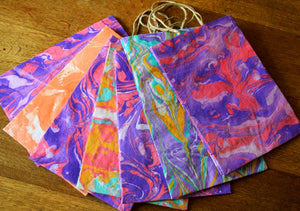 Gift bag, Marbled, large