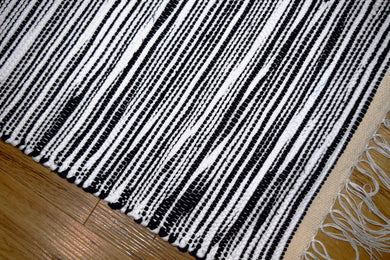 Mat, Stripe, Black/white