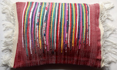 Cushion cover, woven, Flame, Dark red