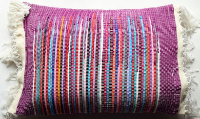Cushion cover, woven, Flame, Purple